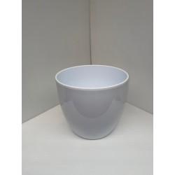 Cache-pot blanc 27.5cm