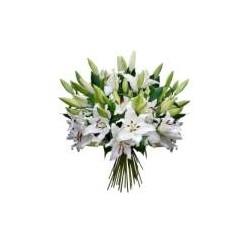 bouquet tige lys blanc